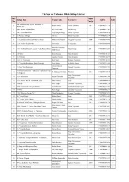 İhtiyaç Listesi (PDF)
