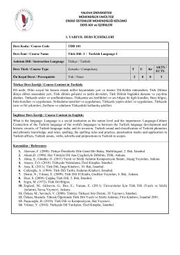 2014-2015 ESMB Ders İçerikleri