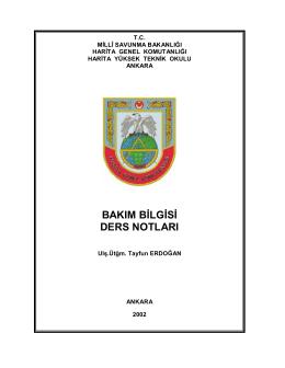 Bakım Bilgisi - Milli Savunma Bakanlığı