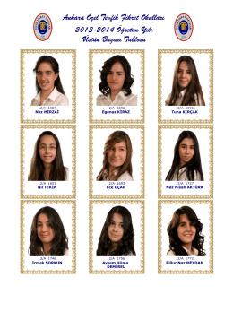 2013-2014 - Özel Tevfik Fikret Okulları