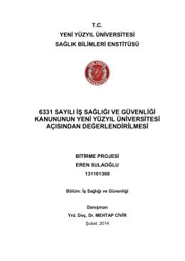 eren.sulaoglu bitirme projesi - İstanbul Yeni Yüzyıl Üniversitesi