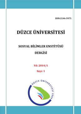 Düzce Üniversitesi Sosyal Bilimler Enstitüsü Dergisi, Yil