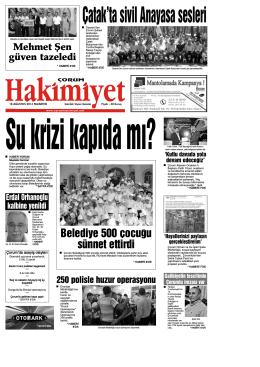 (18 a\360ustos.qxd) - Çorum Hakimiyet Gazetesi