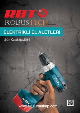 RBT Elektrikli El Aletleri Katalog