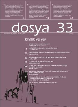 Dosya 33: kimlik ve yer - Mimarlar Odası Ankara Şubesi