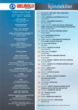 GELiBOLU Rüzgarı Dergisi - gelibolu derneği resmi web sitesi