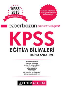 Ezberbozan KPSS Eğitim Bilimleri Konu Anlatımlı 2015