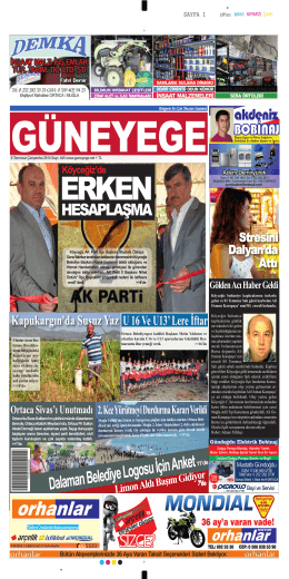 09 Temmuz 2014 - Güney Ege Gazetesi