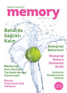 ilkbahar 2014 - Memorial Hastanesi