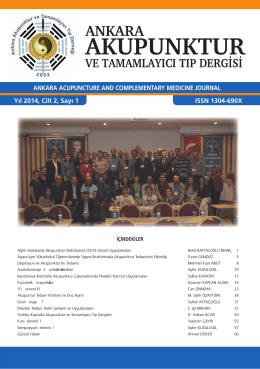 Sayı - Ankara Akupunktur Derneği