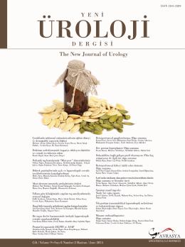 Yeni Üroloji Dergisi Cilt 9 Sayı 2 isimli sayının pdf dosyasını