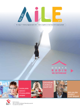 pdf 7.sayı için tıklayınız - Eğitim ve Yayın Dairesi Başkanlığı