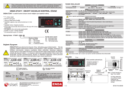 enda et2411 on/off sıcaklık kontrol cihazı