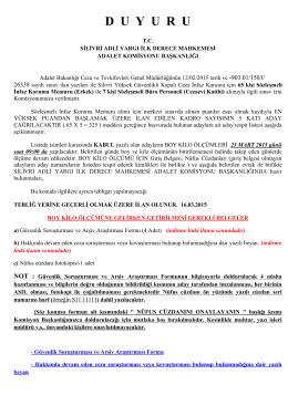 SÖZLEŞMELİ İKM ALIMI Aday Tespit Listesi 16.03