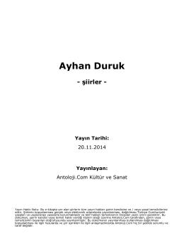 Ayhan Duruk - Antoloji.Com