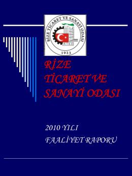 h.7 - Rize Ticaret ve Sanayi Odası