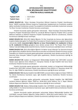 karar 2014/017 - Afyon Kocatepe Üniversitesi