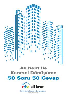 Kentsel Dönüşüme 50 Soru 50 Cevap e-katalog