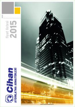 2015 Fiyat Listemiz.. - CİHAN ELEKTRİK AYDINLATMA