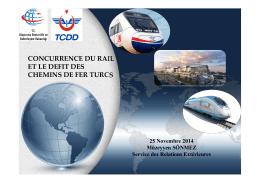 concurrence du rail et le defit des chemins de fer turcs