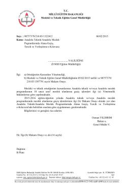 Anadolu Teknik/Anadolu Meslek Pogramlarında Alana Geçiş, Tercih