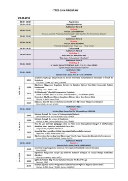 ıttes 2014 program 20.05.2014