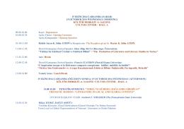 15 ekim 2014 çarşamba (sabah) - mersin üniversitesi v. uluslararası