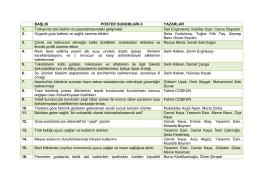 3. Poster Sunumları - İç Anadolu Bölgesi 2. Tarım ve Gıda Kongresi