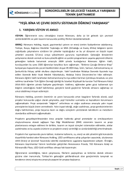 Yarışma Şartnamesi - Rönesans Holding