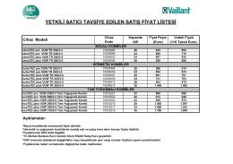 Vaillant Kombi Fiyat Listesi 2015 (0.16MB)