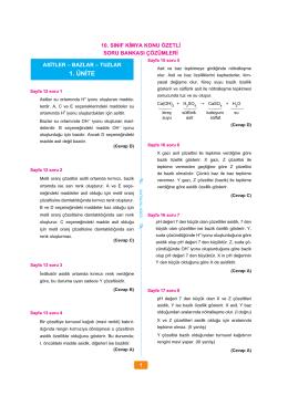 kimya 10 snf cozum 2014.indd - 9 Kimya Soru Bankası, 10 Kimya
