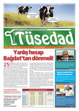TÜSEDAD Dergisi 24. Sayı
