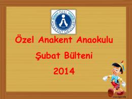Anaokulu Şubat 2014 Bülteni