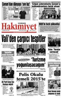 (18 kas\375m.qxd) - Çorum Hakimiyet Gazetesi