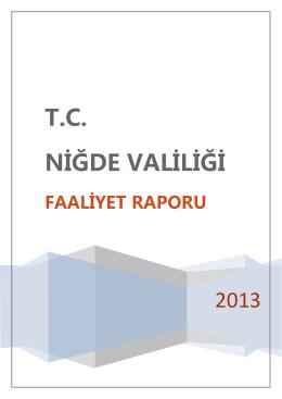 Faaliyet Raporu - Niğde Valiliği