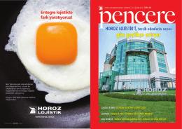 PENCERE DERGİ Dergimizin yeni sayısını keyifle