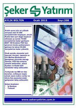 Aylık Bülten - Şeker Yatırım