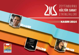 E-Dergi Kasım 2014 - Zeytinburnu Kültür Sanat