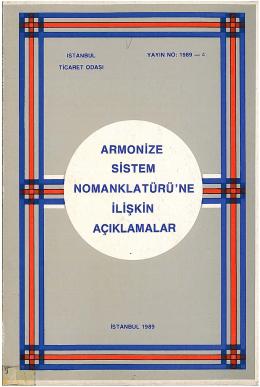 ARMONIZE SiSTEM NOMANKLATÜRÜ