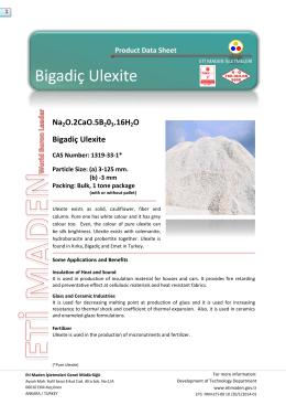 Bigadiç Ulexite - Eti Maden İşletmeleri