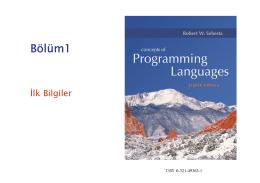 Programlama Dillerine Giriş