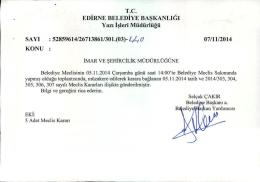 kasım - Edirne Belediyesi