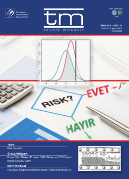 tm Dergi 33. Sayı - Türk Müşavir Mühendisler ve Mimarlar Birliği