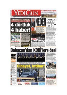 4 haber! - Yedigün Gazetesi