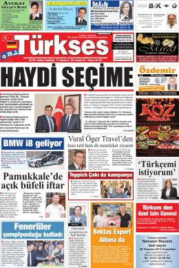 Temmuz 2014 - Türkses Gazetesi