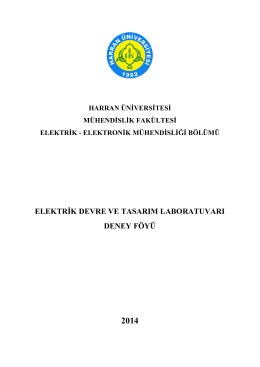 elektrik devre ve tasarım laboratuvarı deney föyü