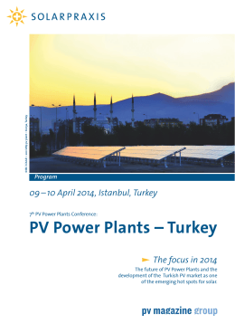 PV Power Plants – Turkey: Program