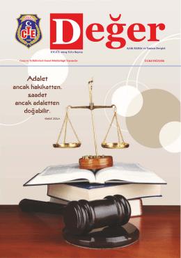 Sayı 9: Değer Dergisi - Ceza ve Tevkifevleri Genel Müdürlüğü