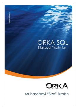 Orka SQL-2012 Eğitim Kitapçığı