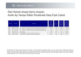 Özel Hizmet Amaçlı Kamu Araçları Aralık Ayı - Mercedes-Benz